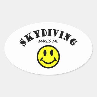 MMS: Skydiving 楕円形シール