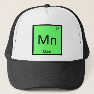 Mn - Manx猫化学周期表の要素 キャップ