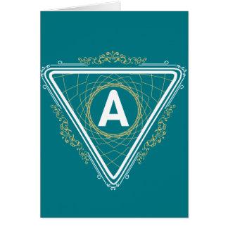 Mnogramカード、含まれている標準的な白い封筒 カード
