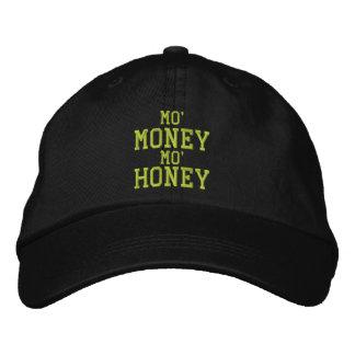MOのお金MOの蜂蜜によって刺繍される帽子 刺繍入りキャップ