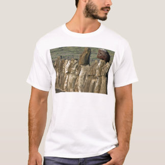 Moaiの彫像Rapa Nui (イースター島) Tシャツ