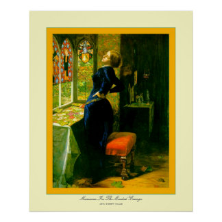 Moated Grange~ジョン・エヴァレット・ミレーのマリアナ ポスター