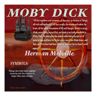 Mobyディックの記号 ポスター