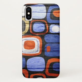 Modern Abstract Pastel Wood iPhone X ケース