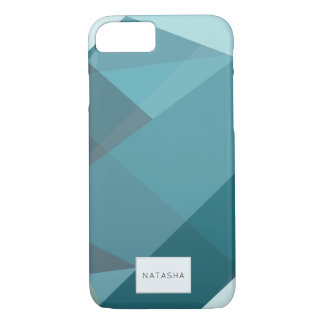 Modern, Abstract Teal iPhone 7 Case iPhone 8/7ケース