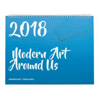 Modern Art Around Us funny customizable カレンダー