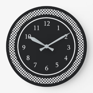 Modern Black And White ラージ壁時計