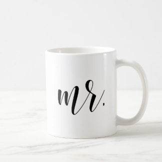 Modern Calligraphy |新婚者の氏のタイポグラフィのマグ コーヒーマグカップ