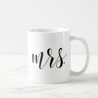 Modern Calligraphy |新婚者夫人のタイポグラフィのマグ コーヒーマグカップ