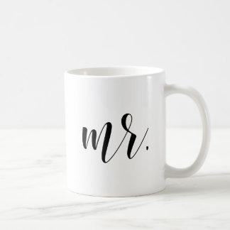 Modern Calligraphy |氏の黒いタイポグラフィ コーヒーマグカップ