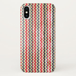 Modern Chevron Pattern Wooden iPhone X ケース