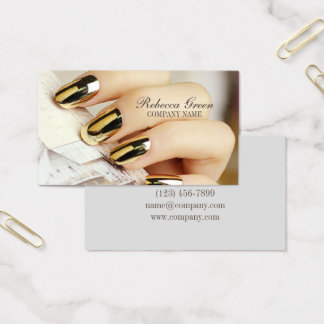 modern elegant manicure nails nail salon 名刺