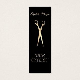 Modern Elegant  Stylish Simple Plain,Scissors スキニー名刺