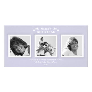 Modern Minimal Soft Purple Merry Christmas Holiday カード
