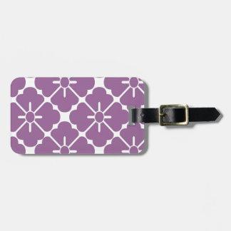 Modern  purplish flower pattern ラゲッジタグ
