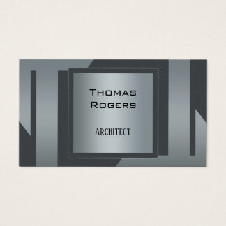 Modern Silver Grey Architecture Business Card 名刺