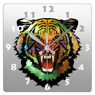 MODERN TIGER ILLUSTRATION スクエア壁時計