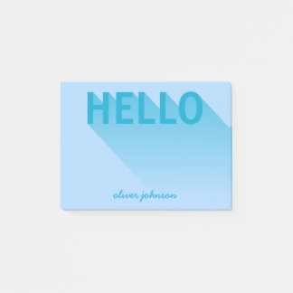 Modern Typography Blue Hello ポストイット