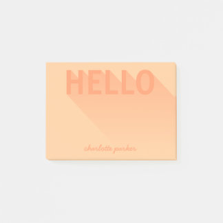 Modern Typography Orange Hello ポストイット