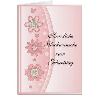 Modernesのデザインmit Blumen カード