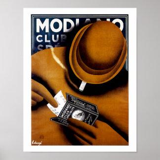 Modianoのタバコの広告 ポスター
