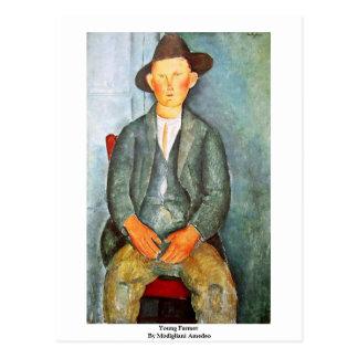 Modiglianiアメーデオ著若い農家 ポストカード