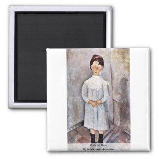Modiglianiアメーデオ著青の女の子 マグネット