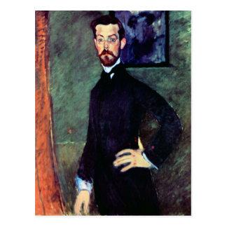 Modigliani著ポールAlexandersのポートレート ポストカード