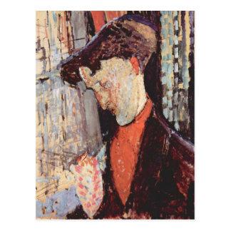 Modigliani著率直なBurty Havilandのポートレート ポストカード