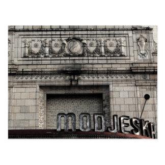 Modjeskaの劇場の郵便はがき ポストカード