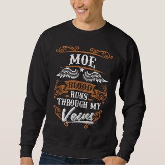MOEの血は私のVeiusによって走ります スウェットシャツ