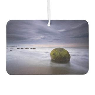 Moerakiの大きい石の日の出の海景 カーエアーフレッシュナー