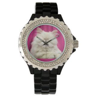 Moet盲目猫の黒の腕時計 腕時計