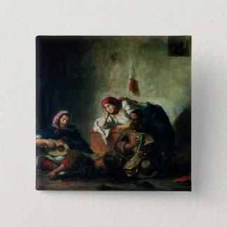 Mogador 1847年のユダヤ人のミュージシャン 5.1cm 正方形バッジ
