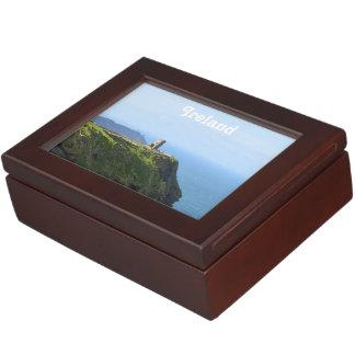 Moherの美しい緑の崖 ジュエリーボックス