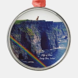 Moherアイルランドの美しい崖 メタルオーナメント