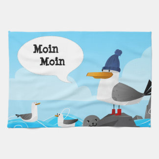 """Moin Moin""のカモメ キッチンタオル"