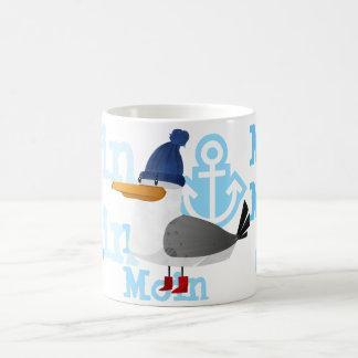 """""""Moin Moin""""のカモメ コーヒーマグカップ"""