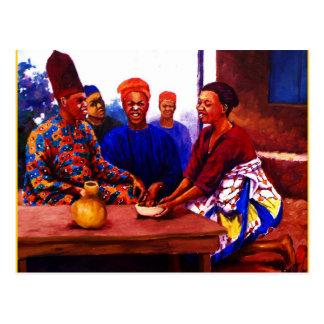 MOJISOLAによる収集GBADAMOSI OKUBULEの油 ポストカード