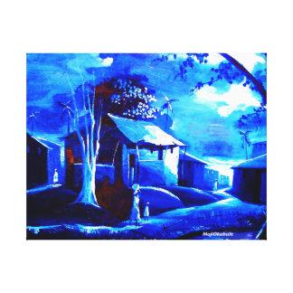 MOJISOLAキャンバスのGBADAMOSI OKUBULEの油 キャンバスプリント