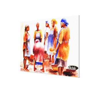 Mojisola著アフリカの女性Gbadamosi Okubule キャンバスプリント