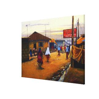 Mojisola A著キャンバスのアフリカ2の油の通り キャンバスプリント