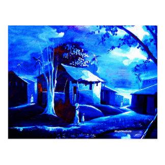 MOJISOLA A GBADAMOSI OKUBULによるキャンバスの家の油 ポストカード