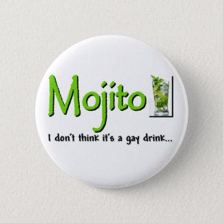 Mojito: ない陽気な飲み物…か。 5.7cm 丸型バッジ