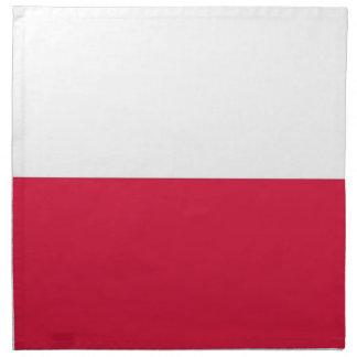MoJoのナプキンのポーランドの旗 ナプキンクロス