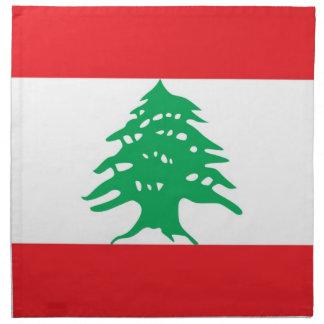 MoJoのナプキンのレバノンの旗 ナプキンクロス