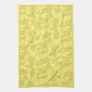 MoJoの台所タオル: 原子ブーメラン-レモン黄色 キッチンタオル