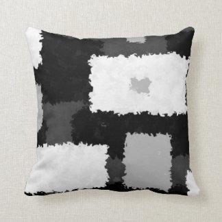 Mojoの灰色、黒く及び白い枕でモノトーンの クッション
