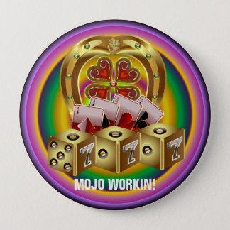 Mojoの速い運Mojo Workin! 10.2cm 丸型バッジ