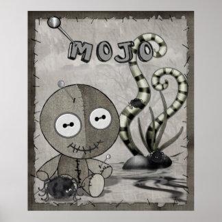 MOJOゴシック様式ブードゥーの人形の民芸 ポスター